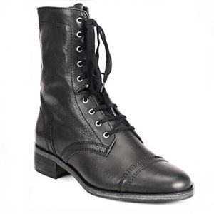 Saks 10022 Shoe Lace-Up Ankle Boots with Zipper